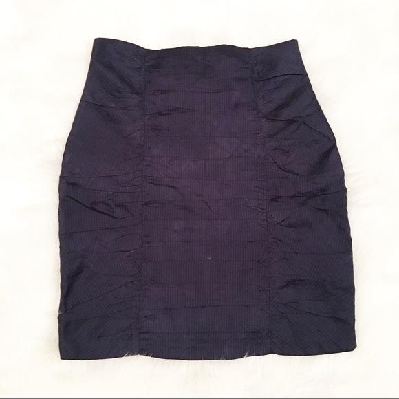 Nanette Lepore Dresses & Skirts - Nanette Lepore navy blue pinstripe skirt 6